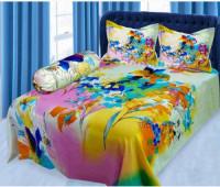 Multi Color Print Pure Cotton Double Bed Sheet