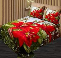 Jaba Flower Print Double King Size Bedsheet Set