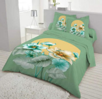Flower Printed Double Size Cotton Bed Sheet
