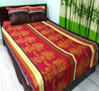 King Size Twill Bedsheet with Matching Pillow Cover