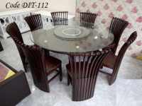 Double Top Round Dining Table