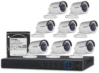 CCTV Package Hikvision 8CH DVR 8 PCS HD Camera 1000GB HDD