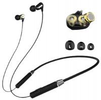 Lenovo HE08 Dual Dynamic Bluetooth Neckband Headphone