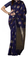 Printed Silk Saree With Extra Piece Matching Blouse