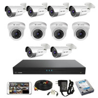 CCTV Package 16-CH DVR with 10-Pcs 2MP IP Camera