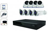 CCTV Package Jovision 8-CH DVR 8-Pcs Full HD Camera