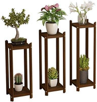 Flower Stand Holder Wooden Rack Set