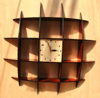 Wall Mount Showpiece Rack with Clock