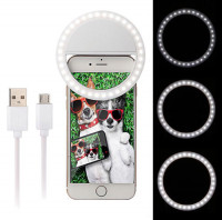 Rechargeable Mini Selfie Ring Light for Smartphone