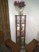 Corner Stand with Color Lamp