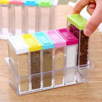 6-in-1 Spice Container Jar for Kitchen