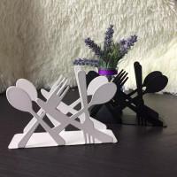 Spoon & Fork Art Craft Fashion Tissue Case