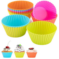 24-Pieces Multiple Color Silicone Reusable Cupcake