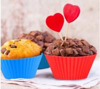 12-Pieces Food-Grade Silicone Reusable Cupcake