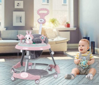 Foldable Baby Walker with Padded Seat