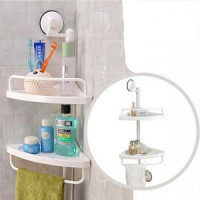 2 -Layer Corner Bath Storage Rack