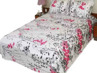 Printed Double Size Cotton Bed Sheet