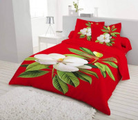 Cotton Material Double Bed Sheet with Two Pillow Cover