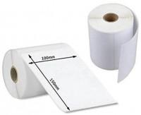White Plain Barcode Sticker 100 x 150mm 500 Pcs / Roll