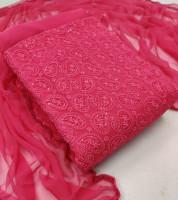 Unstitched Pink Color Salwar Kameez