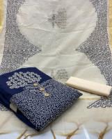 Blue Color Unstitched Salwar Kameez