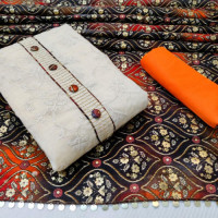 Unstitched Khadi Cotton Salwar Kameez