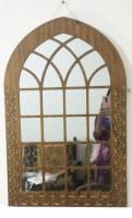 34 / 22 Inch Wooden Mirror