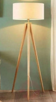 Tripod Floor Lamp with White Lampshade