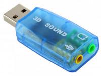 3D USB Sound Card with Headphone Jack