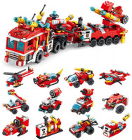12-in-1 City Fire Brigade Building Blocks for Kids