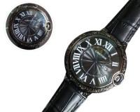 Cartier Ballon Bleu 3001 Black Bezel Watch