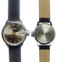 Curren 8208 Leather Strap Band Quartz Black Wrist Watch