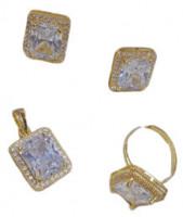 Diamond Cut Earring Set
