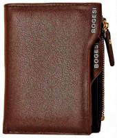 Bogesi Men Casual Brown Genuine Leather Wallet
