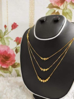 Gold Plated 3 Layer Long Chain
