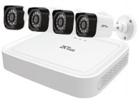 ZKTeco 4-Channel XVR 4-Pcs FHD Camera Set