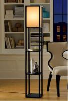 Corner Floor Lamp with 3 Shelves
