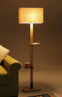 Corner Lamp with Square Shade