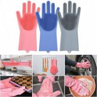 Magic Silicone Dishwashing Hand Gloves