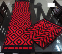 Dining Table Runner with 6 Pieces Mat