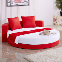 Round Shape Exclusive Design Leather Bed