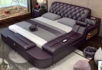 Exclusive Design Leather Bed