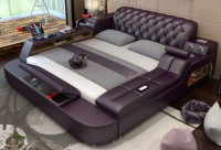 Trendy Design Leather Bed