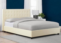 Trendy Design 5 x 7 Feet Leather Bed