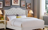 Fashionable Design 5 x 7 Feet Leather Bed