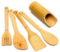 Wooden Bamboo Spoon Set
