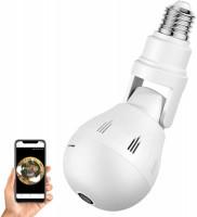 Panoramic V-380 WiFi 360 Degree Bulb Fisheye LED CC Camera