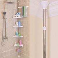 4 Layer Adjustable Bathroom Corner Shelf