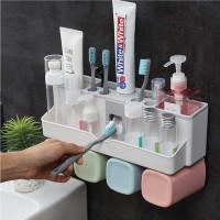 Wall Mount Toothpaste Dispenser Rack
