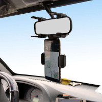360 Rotating Smartphone Holder for Car Mirror